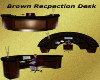 Brown Recpection Desk