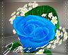 Blue Boutonniere