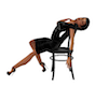 pin up pose chair
