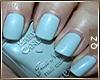 Blue Short Nails