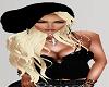 BLack Hat BLond Hair
