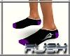 {DR} Socks Black Purple