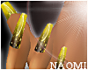 Gold Moon French Nails
