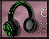 Headphones-CyCore Green