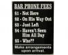 Bartender Phone Fees