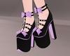 Bow High Heels - Purple