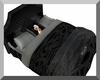 Black & Silver Koru Bed