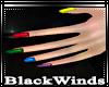 BW| Rainbow Nails