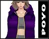 Down LongCoat-Purple
