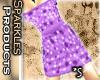 *S Dot Dress Purple