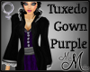 MM~ Purple Tuxedo Gown