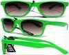 green wayfarer shades