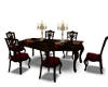 Elegant Red Dining Table