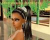 black pigtails /goldband
