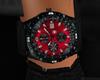 red + black laster watch