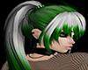 White & Green Ponytail