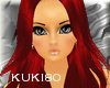 K red lady's hair