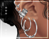 :Multi Silver Earrings
