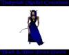 {V} Black&Blue Prom Gown