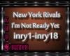 !M! NYR Not Ready Yet
