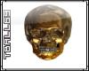 Golden Skull Sticker