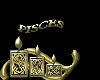 sticker pisces gold