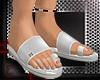 *RH* white sandals