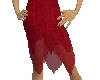(e)deep red skirt