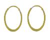 Womans Loop Gold Earring