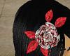 Blood Rose Hair Pin