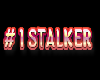 # 1 STALKER sticker red