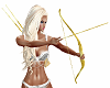 Gold Bow n Arrow
