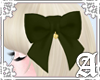Lovely Ribbon Clip~Olive