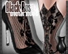 [CS] Black Rose Pumps