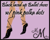 MM~Black pink laced shoe