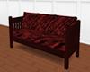 Couch burgundy velvet