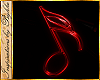 I~Neon Red Music Note