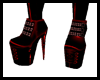 Toxic PVC Boots-red