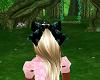 multi color black bow