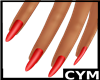 Cym Red Nails