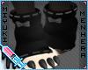 Paw warmers .black/grey