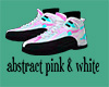 abstract pink & white