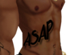 ASAP Ribcage Tattoo