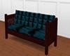 Couch Teal velvet