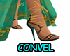 Teal Gold heels