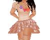 Flat Peach dress