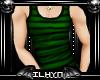 [Lyn] Striped Green Tank