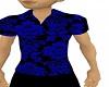 [V1a] Black Blue Shirt