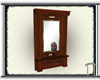 Antique Wood Hall Mirror