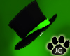 black/toxic green tophat